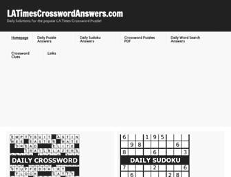 latimescrosswordanswers.com screenshot