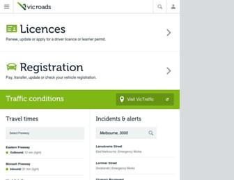 vicroads.vic.gov.au screenshot