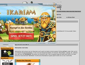 Main page screenshot of german-bash.org