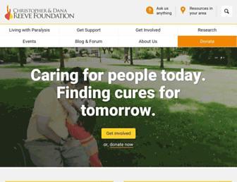 Thumbshot of Christopherreeve.org