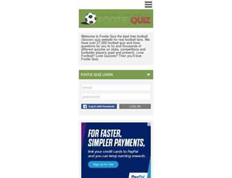 footiequiz.co.uk screenshot