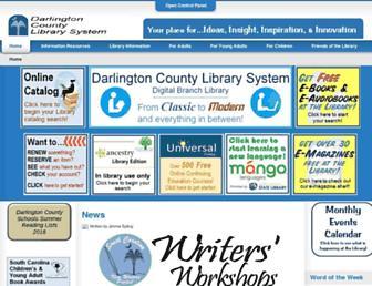 Main page screenshot of darlington-lib.org