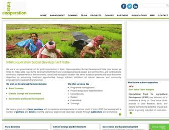 intercooperation.org.in screenshot