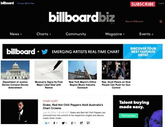 Main page screenshot of billboard.biz