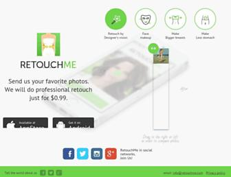 retouchme.com screenshot