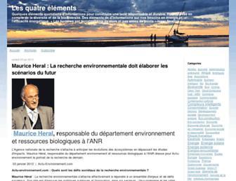 Main page screenshot of les4elements.typepad.fr