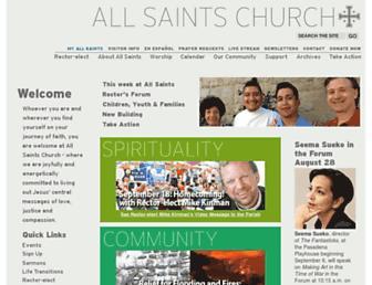allsaints-pas.org screenshot