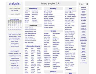 inlandempire.craigslist.org screenshot