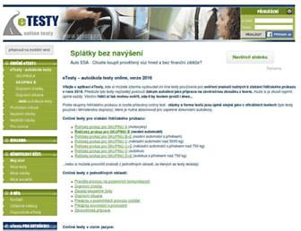 autoskola-testy.cz screenshot