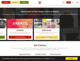 Thumbshot of Keepcalm-o-matic.co.uk