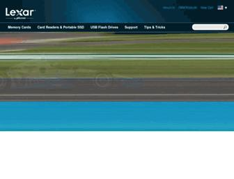 Thumbshot of Lexar.com