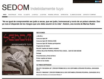 Main page screenshot of sedom.eu