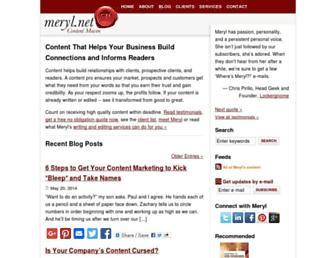 Main page screenshot of meryl.net