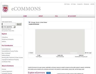 ecommons.luc.edu screenshot