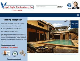 legaleaglecontractors.com screenshot