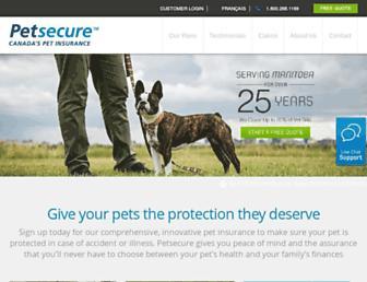 petsecure.com screenshot