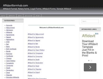 affidavitformhub.com screenshot
