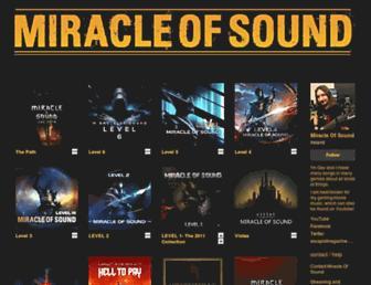 miracleofsound.bandcamp.com screenshot
