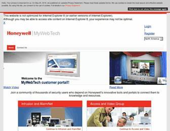 mywebtech.honeywell.com screenshot