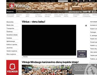 Main page screenshot of vilnius.lt