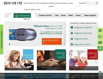 groupama.ro screenshot