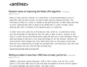 Thumbshot of Antirez.com
