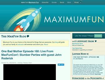 Thumbshot of Maximumfun.org