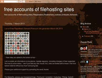 freefilehostaccounts.blogspot.com screenshot