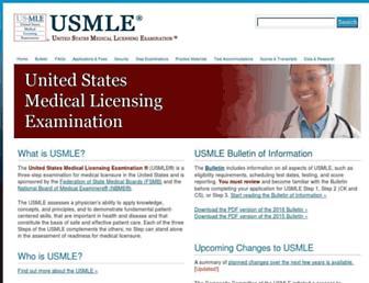 usmle.org screenshot