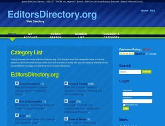 Main page screenshot of editorsdirectory.org