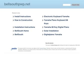 Main page screenshot of bellsouthpwp.net