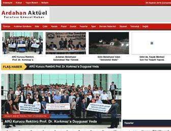 ardahanaktuel.com screenshot
