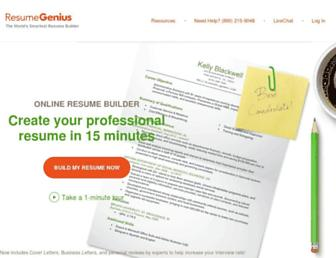 Thumbshot of Resumegenius.com