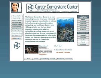 Main page screenshot of careercornerstone.org
