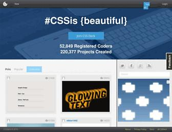Thumbshot of Cssdeck.com