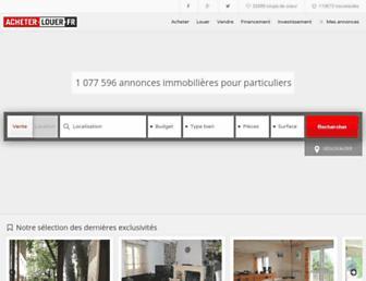 Main page screenshot of acheter-louer.fr