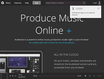 audiotool.com screenshot