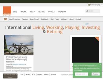 escapeartist.com screenshot