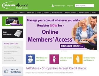 fairshare.uk.com screenshot