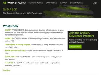 developer.nvidia.com screenshot