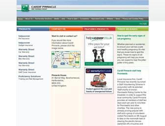 cardifpinnacle.com screenshot