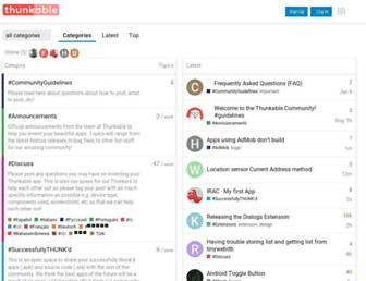 community.thunkable.com screenshot