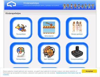 Main page screenshot of kinderspelletjes.spelletjes-voor-kinderen.nl