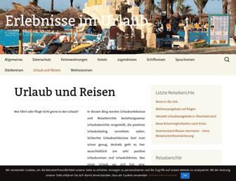 Main page screenshot of urlaub-erlebnisse.de