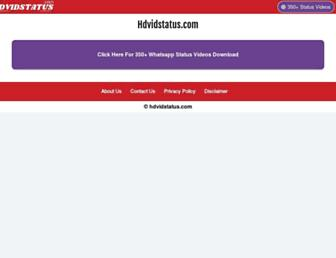 hdvidstatus.com screenshot