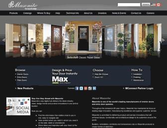 Screenshot for masonite.com