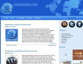 Main page screenshot of netheweb.de