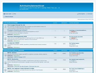 forum.activitysimulatorworld.net screenshot