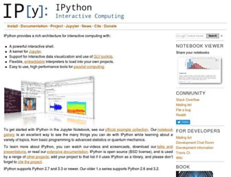 ipython.org screenshot