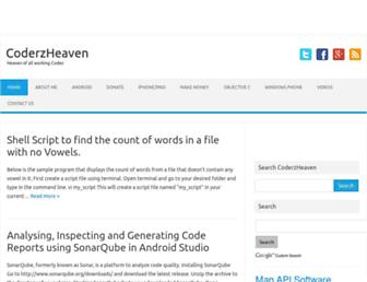 coderzheaven.com screenshot